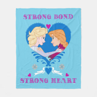 Anna and Elsa | Strong Bond, Strong Heart Fleece Blanket