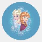 Anna and Elsa | Winter Magic Classic Round Sticker