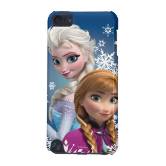 Anna and Elsa with Snowflakes iPod Touch (5th Generation) Cover