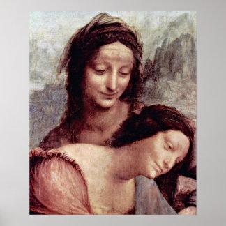Anna and Maria by Leonardo di ser Piero da Vinci Poster