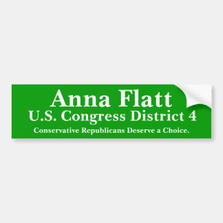 Anna Flatt Oklahoma US Congress Bumper Sticker