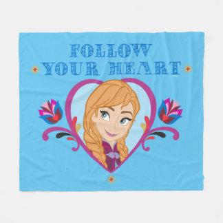 Anna | Follow your Heart Fleece Blanket