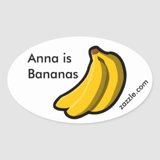 Anna is Bananas Promo Oval Sticker