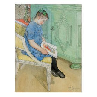 Anna Johanna Reading a Book Postcard