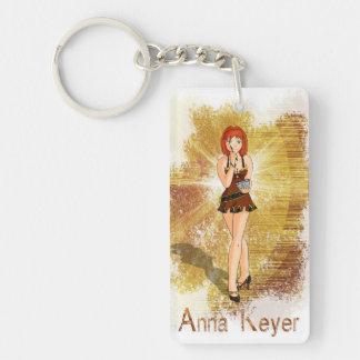 Anna Keyer Journalist Single-Sided Rectangular Acrylic Keychain