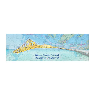 Anna Maria Island Digital Art Montage Canvas Print