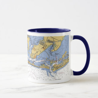 Anna Maria Island Florida Nautical Chart Mug