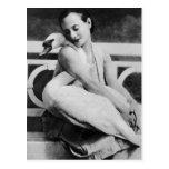 Anna Pavlova with her pet swan Jack, c.1905 Post Card