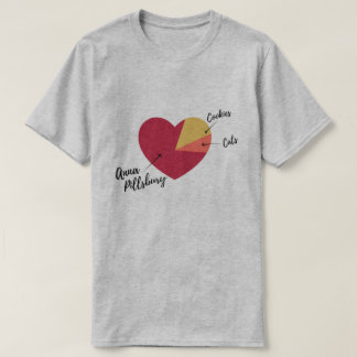 Anna Pillsbury Heart Pie Chart Shirt (Men's)