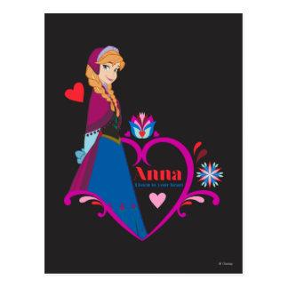 Anna | Pink Heart Postcard