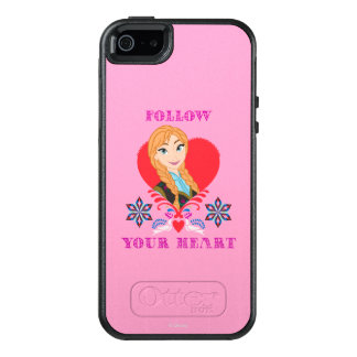 Anna | Portrait in Red Heart OtterBox iPhone 5/5s/SE Case