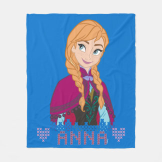 Anna | Portrait with Name Fleece Blanket