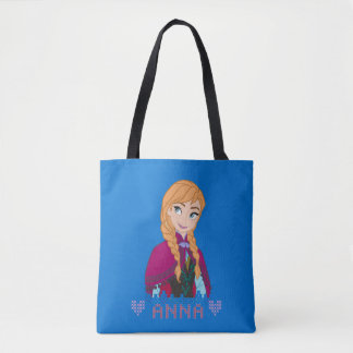 Anna   Portrait with Name Tote Bag