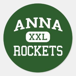 Anna - Rockets - Anna High School - Anna Ohio Classic Round Sticker