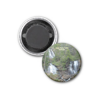 Anna Ruby Falls Ga 1 Inch Round Magnet
