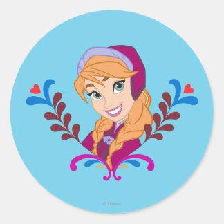 Anna | Strong Heart Classic Round Sticker