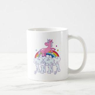 Anna Unicorn Name Coffee Mug