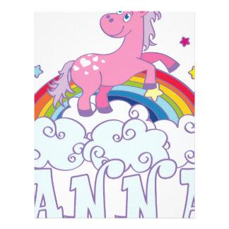 Anna Unicorn Name Letterhead