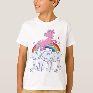 Anna Unicorn Name T-Shirt