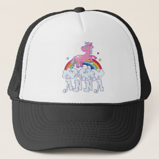 Anna Unicorn Name Trucker Hat