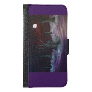 Annabel Lee dark misty forest Galaxy 6 wallet