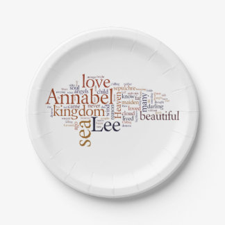 Annabel Lee Paper Plate