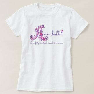 Annabella girls A name meaning monogram shirt