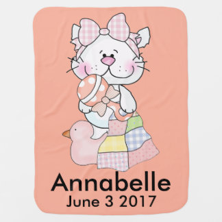 Annabelle's Personalized Kitty Baby Blanket
