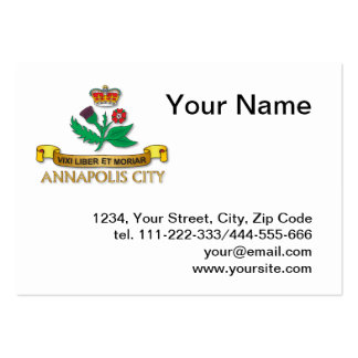 Annapolis city flag business cards