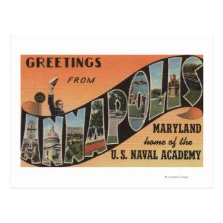 Annapolis, Maryland - Large Letter Scenes Postcard