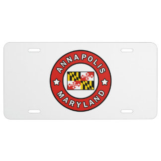 Annapolis Maryland License Plate