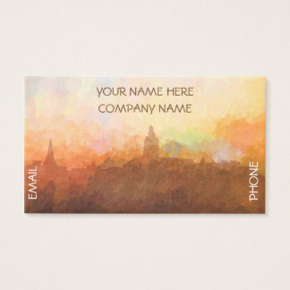 Annapolis Maryland Skyline IN CLOUDS Business Card