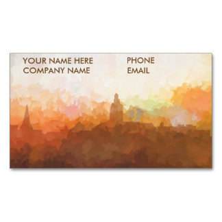 Annapolis Maryland Skyline IN CLOUDS Magnetic Business Card