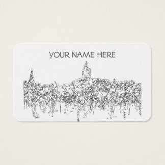 Annapolis Maryland Skyline SG-Black & White Business Card