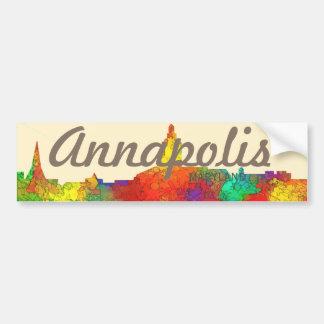 Annapolis Maryland Skyline-SG Bumper Sticker