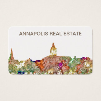 Annapolis Maryland Skyline SG-Faded Glory Business Card