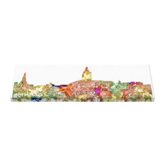 Annapolis Maryland Skyline SG - Faded Glory Canvas Print
