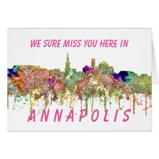 Annapolis Maryland Skyline SG-Faded Glory Card