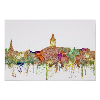 Annapolis Maryland Skyline SG-Faded Glory Poster