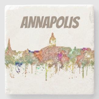 Annapolis Maryland Skyline SG-Faded Glory Stone Coaster