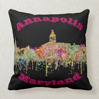Annapolis Maryland Skyline SG - Faded Glory Throw Pillow
