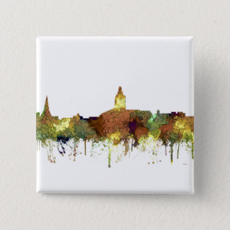 Annapolis, Maryland Skyline SG - Safari Buff 2 Inch Square Button
