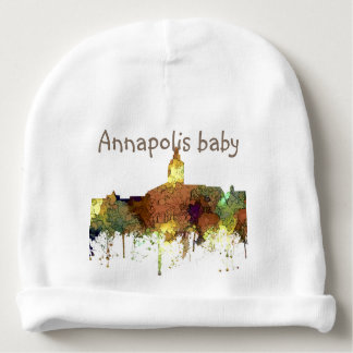 Annapolis, Maryland Skyline SG - Safari Buff Baby Beanie