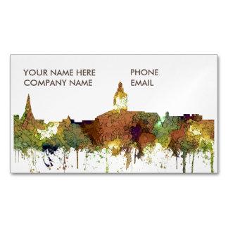 Annapolis, Maryland Skyline SG - Safari Buff Business Card Magnet
