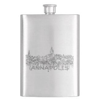 Annapolis Maryland Skyline SG-Safari Buff Hip Flask