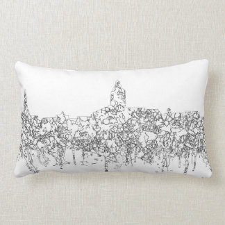 Annapolis Maryland Skyline SG-Safari Buff Lumbar Pillow