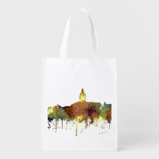 Annapolis, Maryland Skyline SG - Safari Buff Reusable Grocery Bag