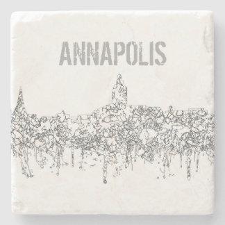 Annapolis Maryland Skyline SG-Safari Buff Stone Coaster