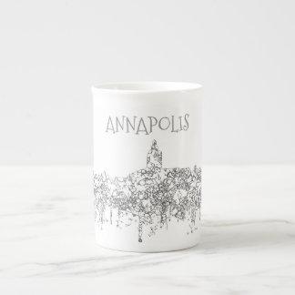 Annapolis Maryland Skyline SG-Safari Buff Tea Cup