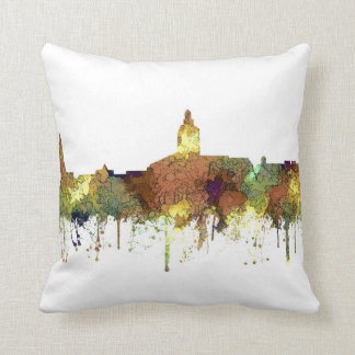 Annapolis, Maryland Skyline SG - Safari Buff Throw Pillow